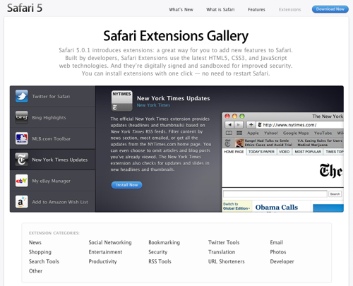 SafariExtensionsGallery